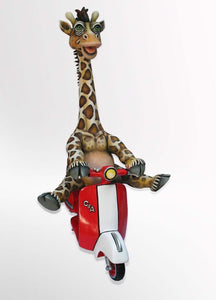 Giraffe on Vespa