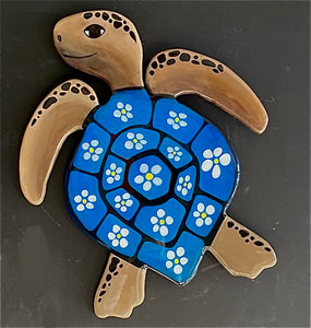 Medium Blue Daisy Turtle