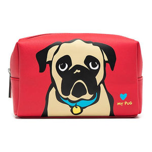 Pug Cosmetic Case