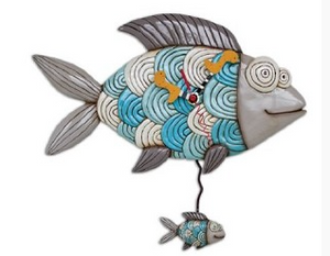 Swimming Fish Clock