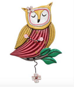 Sleeping Owl Clock