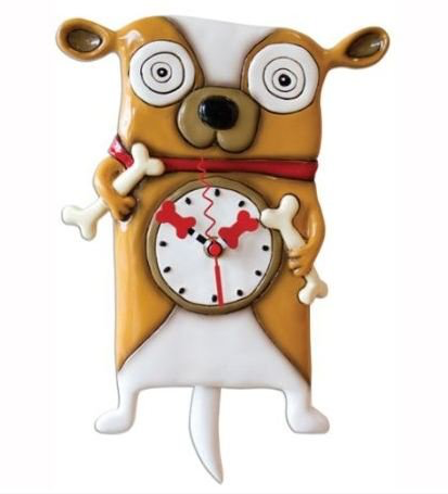 Little Dog Clock
