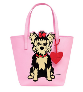 Yorkie Tote Bag with Dangle