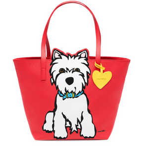 Westie Tote Bag with Dangle