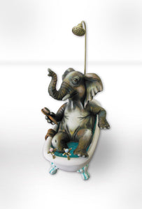 Elephant in bathtub mini