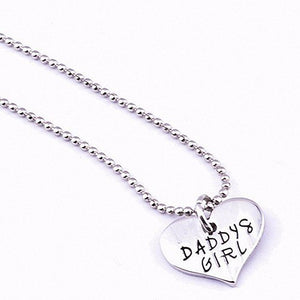 "Daddy's Girl Heart Necklace / She Stole My Heart Keychain 2-Piece Set - 18"" Chain"