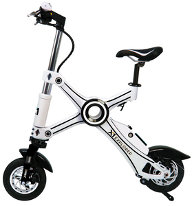 2021 X1 Explorer - Portable Folding Electric Bike With Alarm - 25 Mile Range / 19 MPH Top Speed (Tesla Power Cell)
