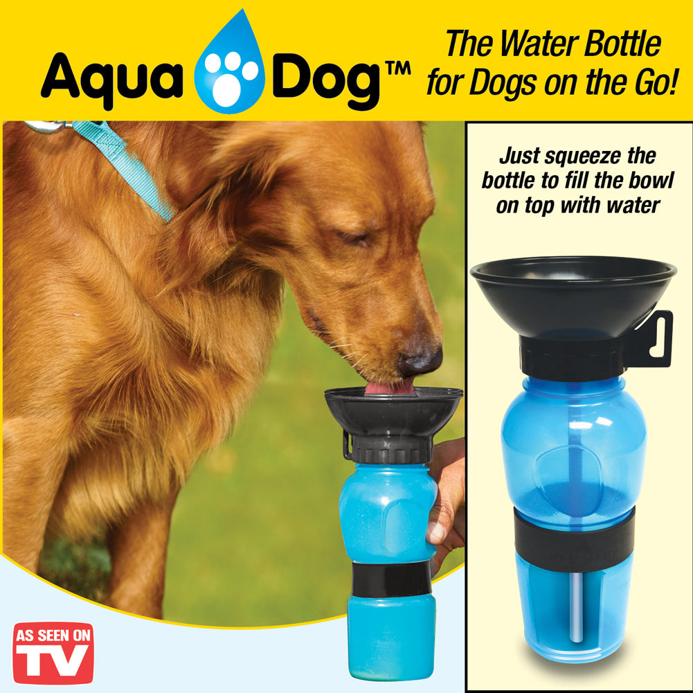 855e6c598c48 Aqua Dog Portable Water Bottle with Built-In Drinking Bowl
