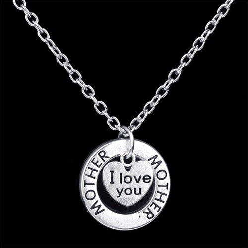 I Love You Necklace with Pendant - 18