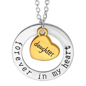 "Forever In My Heart Necklace with Pendant - 22"" Chain"