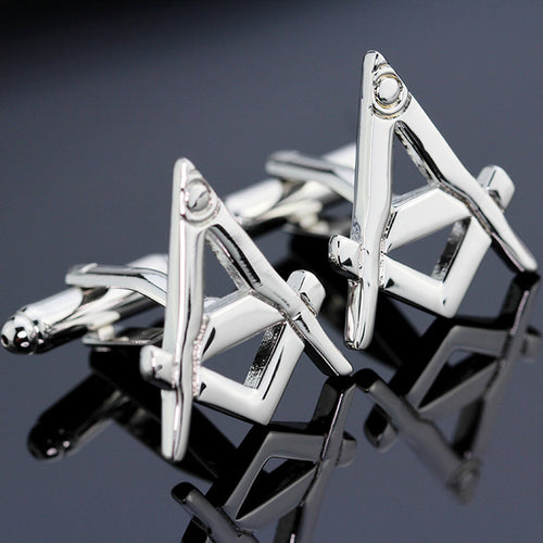 Freemasons Cuff Links - Square & Compasses Design