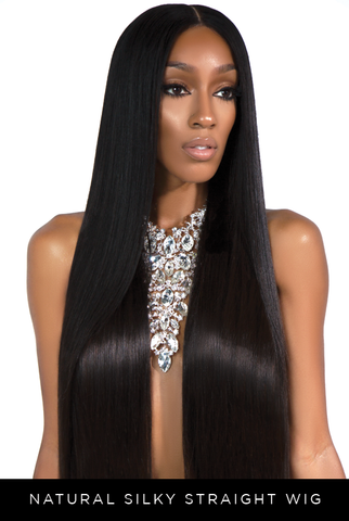 Natural Silky Straight Wig