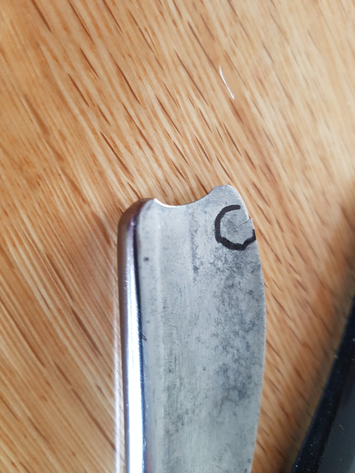Repairing a cracking good razor.