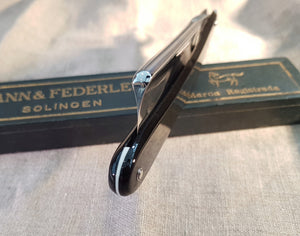 "Restored Mann & Federlein 15/16"" Full Hollow ground."