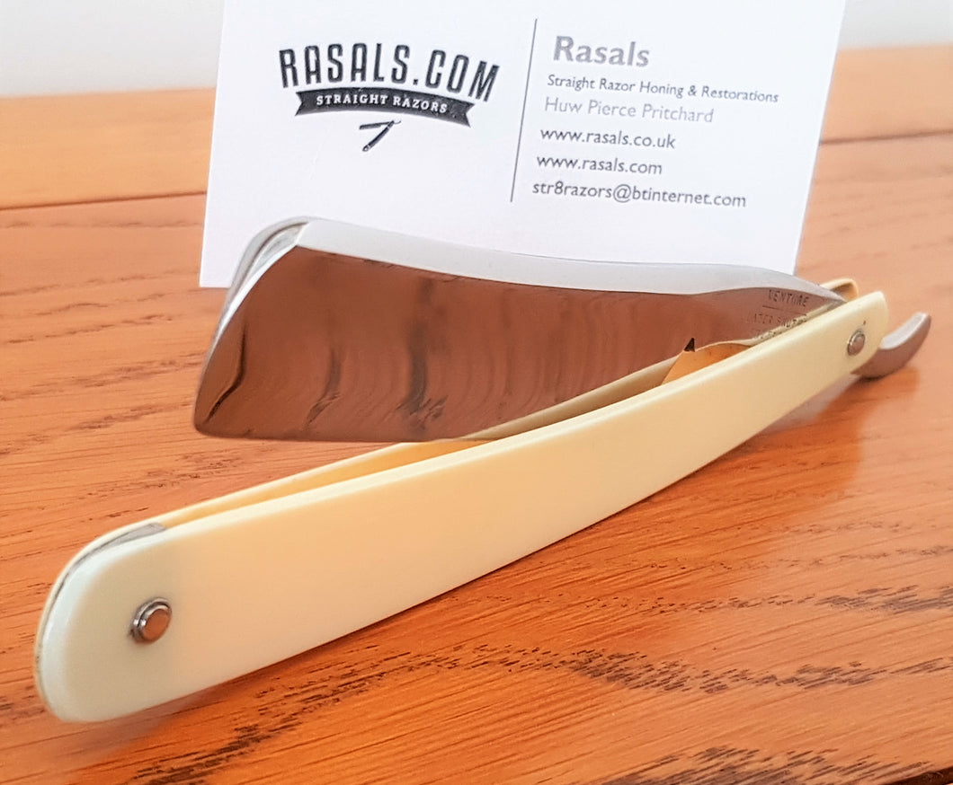A restored, antique Sheffield made razor by the Slater Brothers