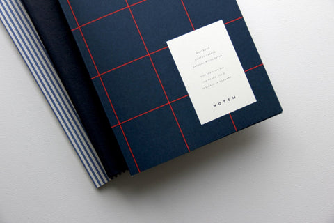 UMA Medium Notebook — Blue, Dotted Sheets