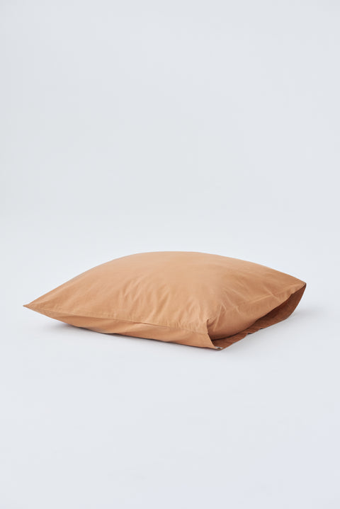 Organic Cotton Pillow Sham — Ocra Brown
