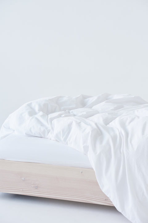 Organic Cotton Duvet Cover — Broken White