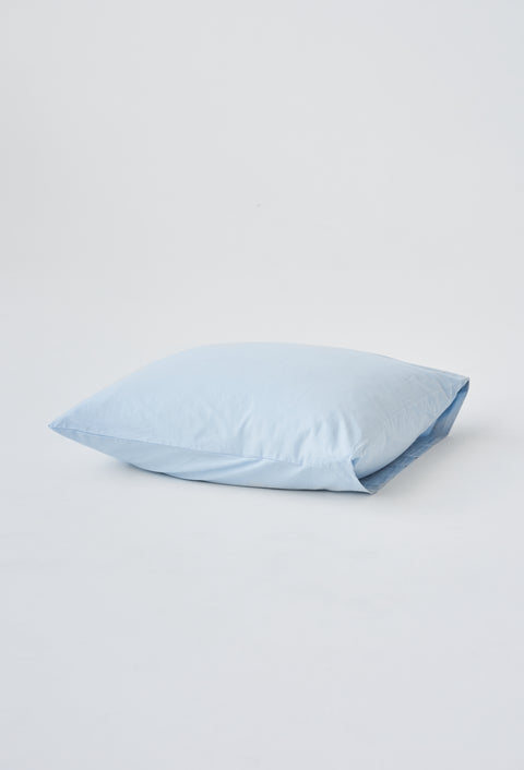 Organic Cotton Duvet Cover — Sky Blue