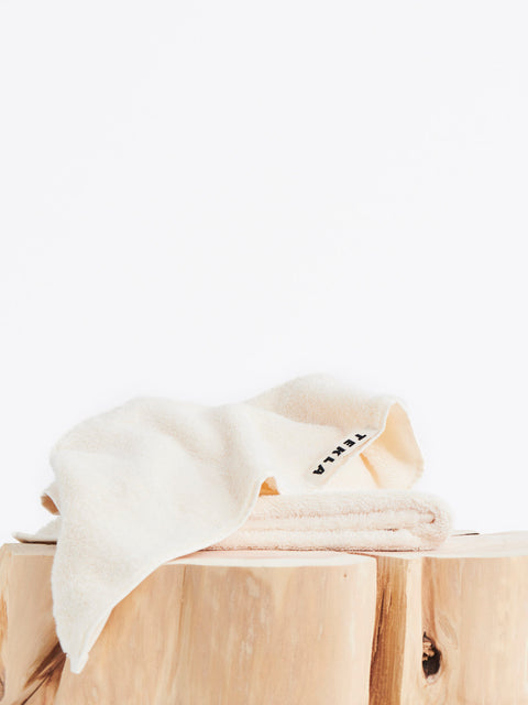 Organic Terry Towels — Ivory