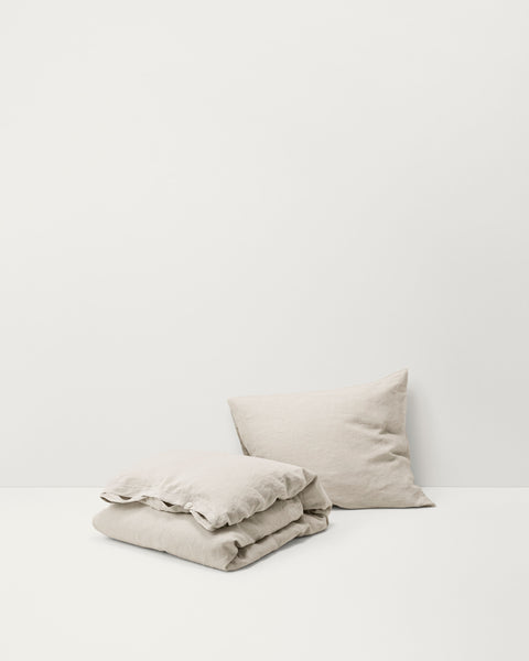 French Linen Pillow Sham — Sand Grey
