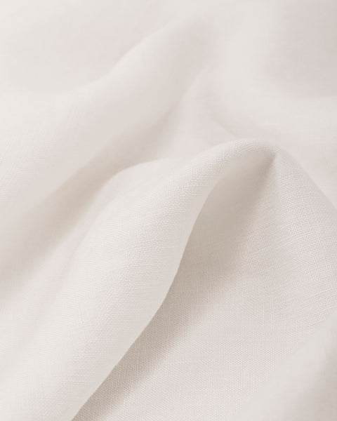 French Linen Pillow Sham — Creme White