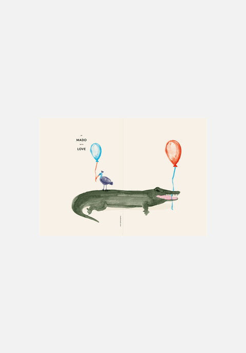 Coco the Crocodile  — Greeting Card