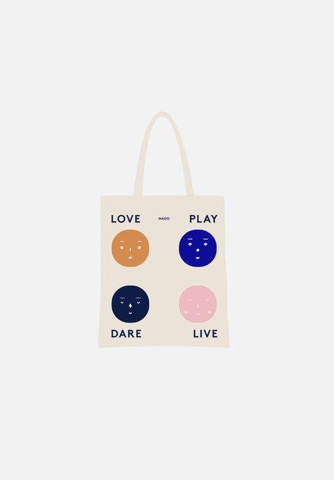 Four Feelings Tote Bag