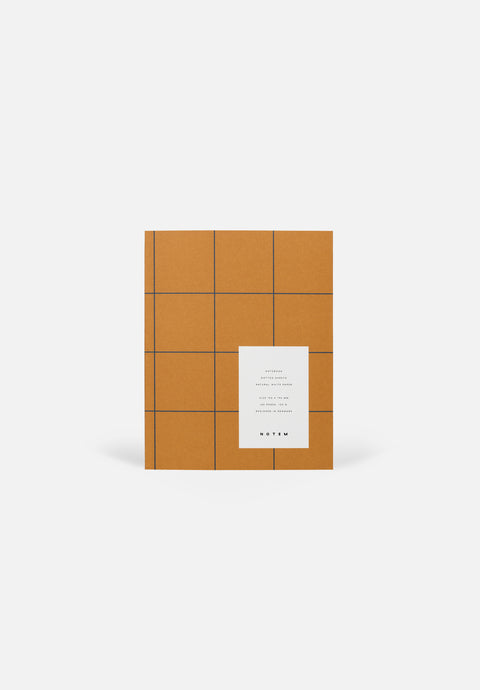 UMA Medium Notebook — Ochre, Dotted Sheets