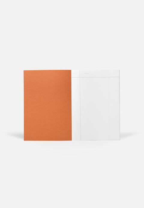 VITA Medium Notebook — Bright Red, Blank Sheets