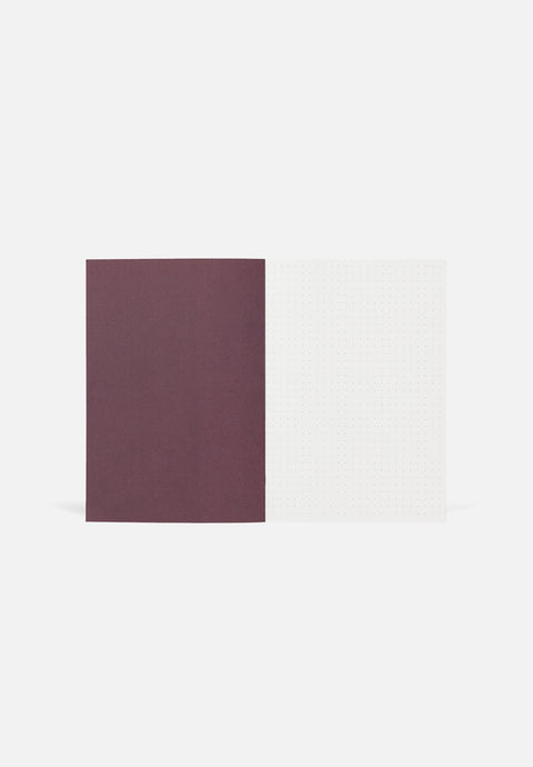 VITA Medium Notebook — Bordeaux, Dotted Sheets