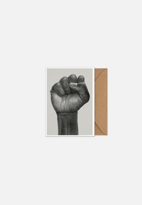 Raised Fist — Greeting Card