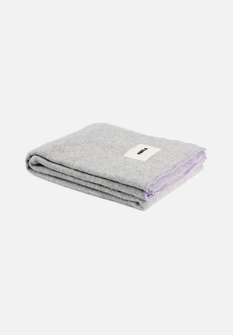Wool Blanket — Pebble Grey