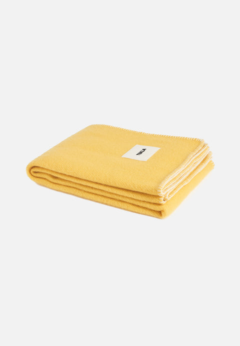 Wool Blanket — Sunset Yellow