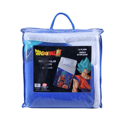 Frazada Polar Sherpa 150x200 Dragon Ball Saiyana