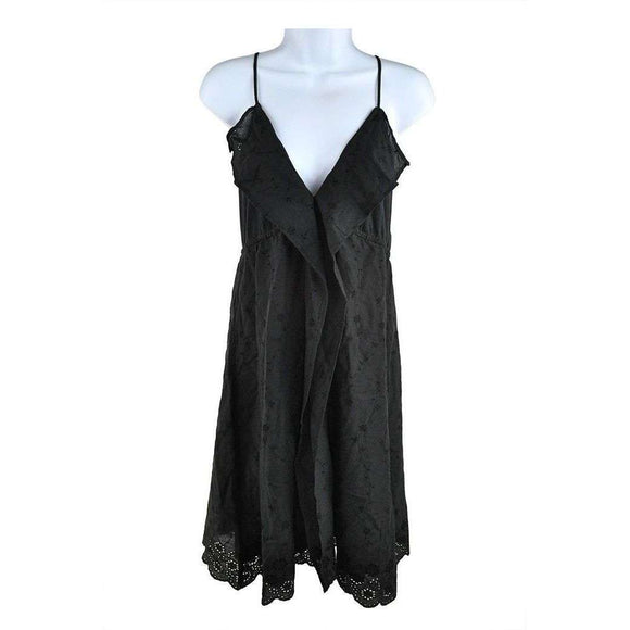 2 Chillies Swimwear Black Frill Front Sundress Size 14 RRP80 SH03