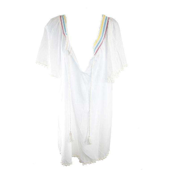 2 Chillies Womens White Beachwear Tunic Size UK14 RRP40 SHA06