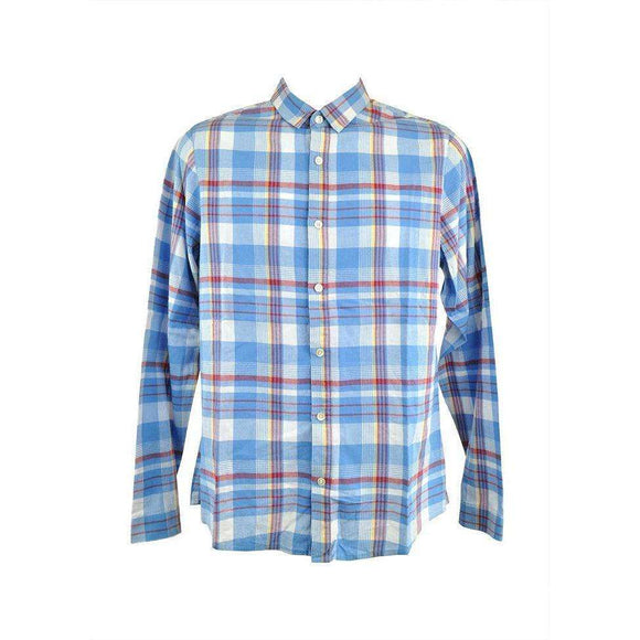 April 77 Blue Checked Long Sleeve Shirt Size M RP1