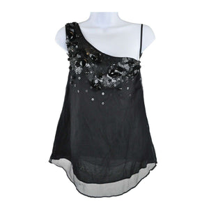 Armand Basi Black Align Top Silk Size 36 RRP120 LY27
