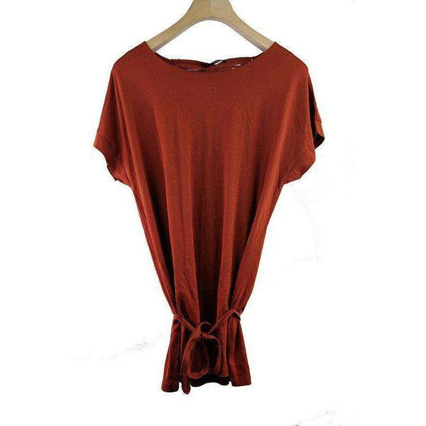 Armand Basi Womens Copper Short Sleeve Top Size XL RRP85 LY34