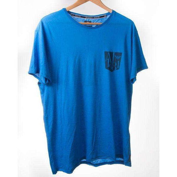 Armani Jeans Short Sleeve Tshirt in Bright Blue Size L RRP65 DAR108