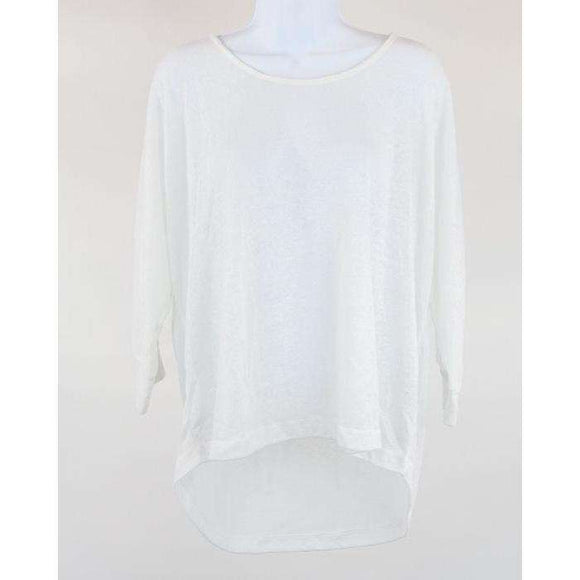 Dailys Nothings Better Long Sleeve White Top Size L RRP60 COURT25
