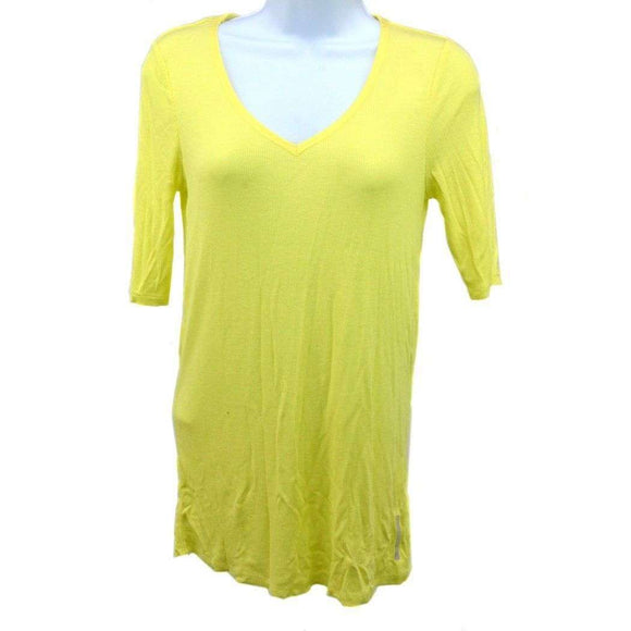 DKNY Jeans Short Sleeved Vest Top in Yellow Size M RRP 57 SHA-18