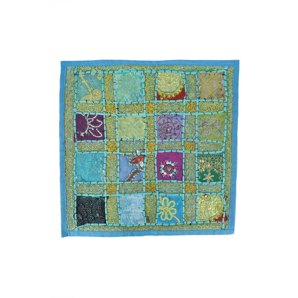 "Indian Inspired Table Mat Blue Size Aprox 16x16"" RRP20"