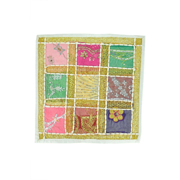 "Indian Inspired Table Mat Pink and Green Size Aprox 16x16"" RRP20"