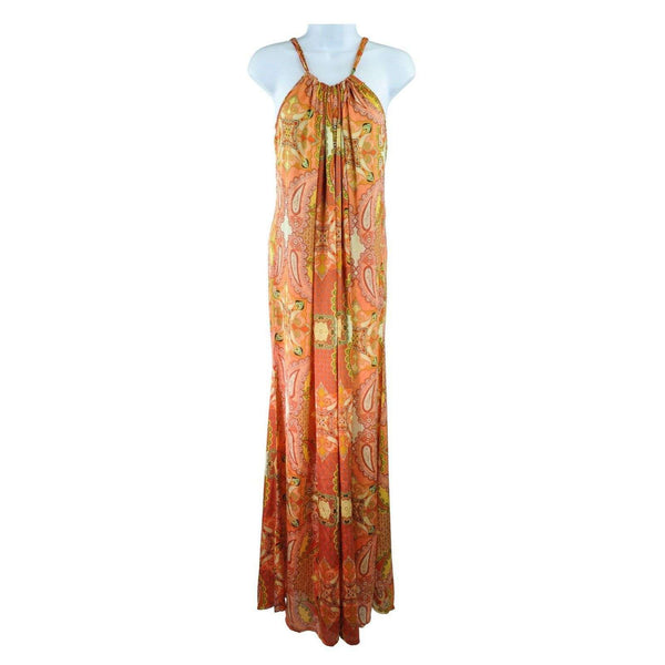 Izabel Orange Drawstring Maxi Dress UK8 RRP55 SH01