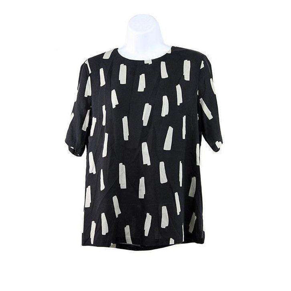 Just female Womens Black Print Top Size S RRP100 LY42