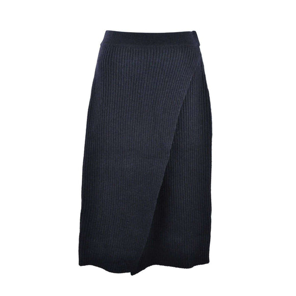 Just Female Womens Corn Knit Skirt Navy Size XS RRP55 LY32