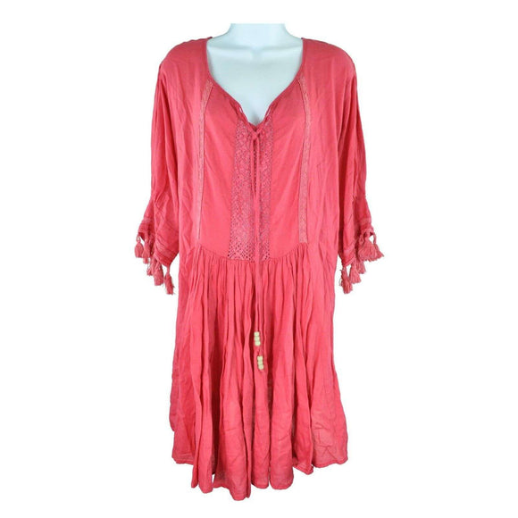Love In Paradise Pink Tunic Top Size M RRP50