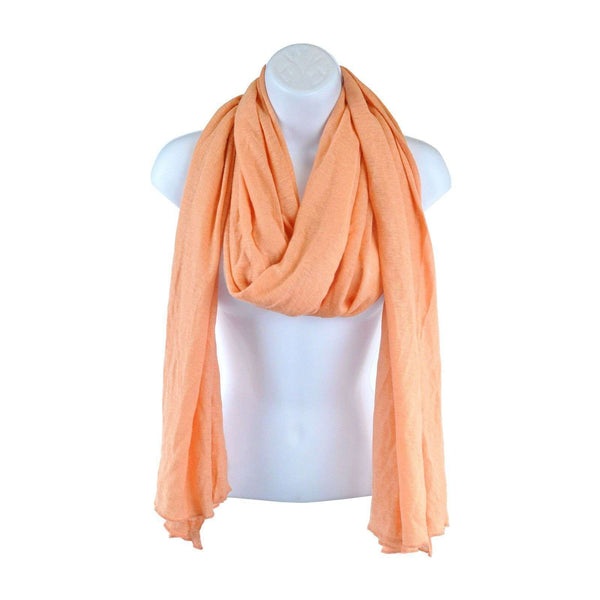 Peach Scarf Large 80x30 Approx SH07